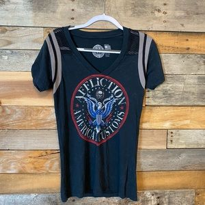 Women's fitted affliction shirt